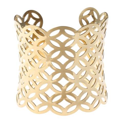 Chloe Collection by Liv Oliver Gold Cuff Bracelet