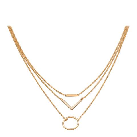 Chloe Collection by Liv Oliver Gold Plated Geometric Necklace