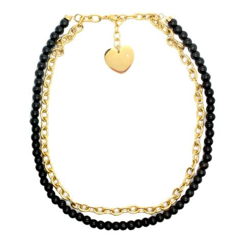 Alexa by Liv Oliver Black/Gold Necklace
