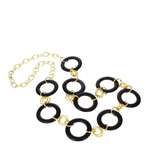 Chloe by Liv Oliver Gold Onyx Ring Necklace