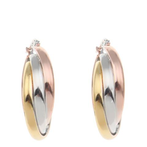 Chloe Collection by Liv Oliver Gold/Rose Gold Twist Hoop Earrings