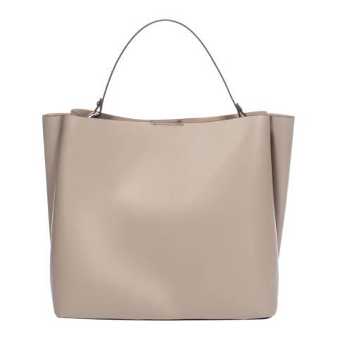 Giulia Massari Taupe Leather Handbag