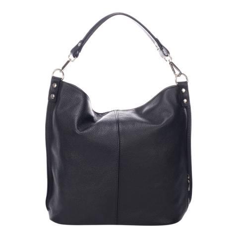 Massimo Castelli Black Leather Handbag