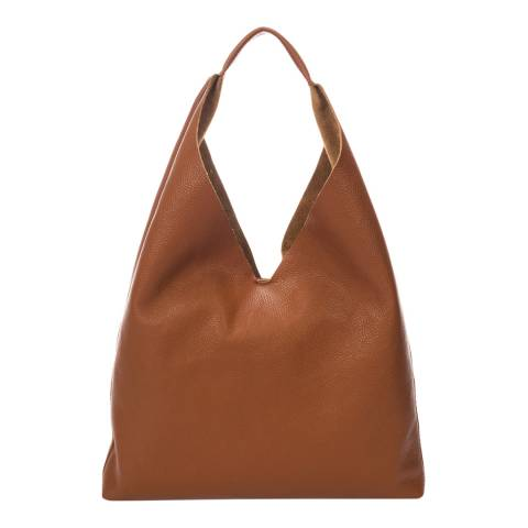 Massimo Castelli Tan Leather Handbag