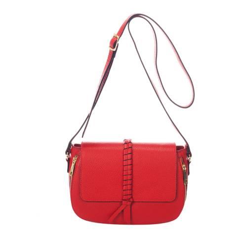 Lisa Minardi Red Leather Crossbody Bag