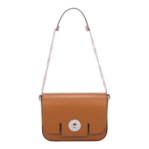 Giorgio Costa Tan Leather Shoulder Bag
