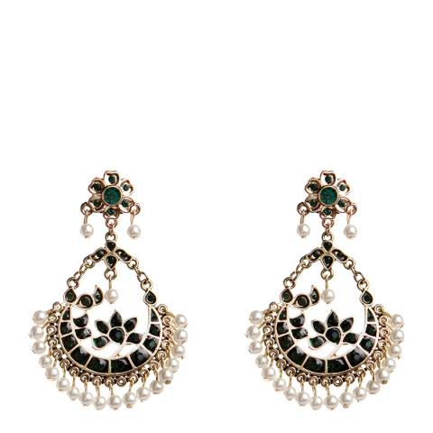 Amrita Singh Green Delhi Emerald Earrings