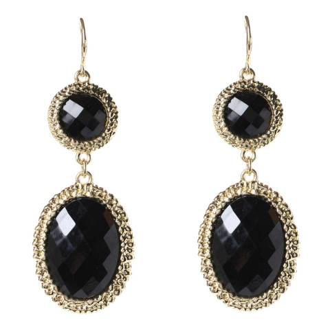 Amrita Singh Gabby Hammered Jet Black Earrings