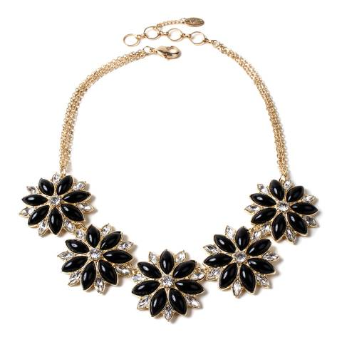 Amrita Singh South Hampton Black Floral Necklace