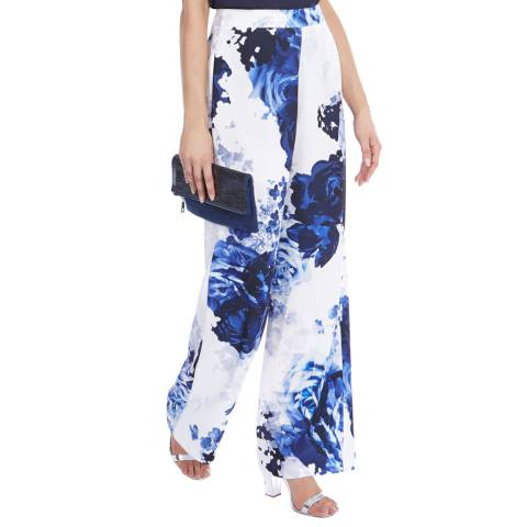 Coast China Blue Print Trousers