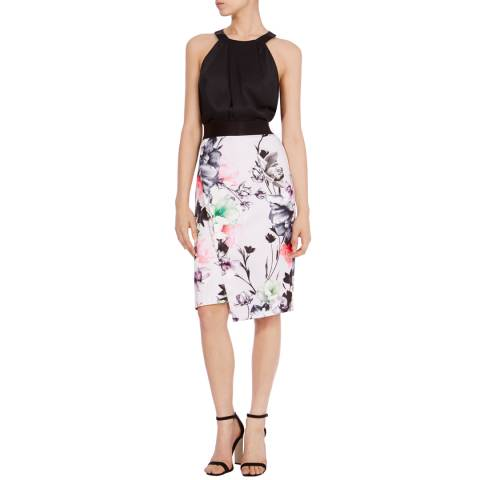 Coast Multi Leche Print Pencil Skirt