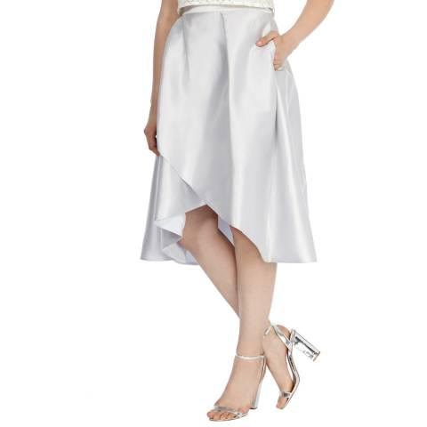 Coast Silver Celina Silk Blend High Low Skirt