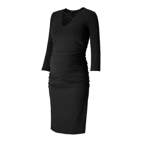 Isabella Oliver Caviar Black Gale Maternity Dress