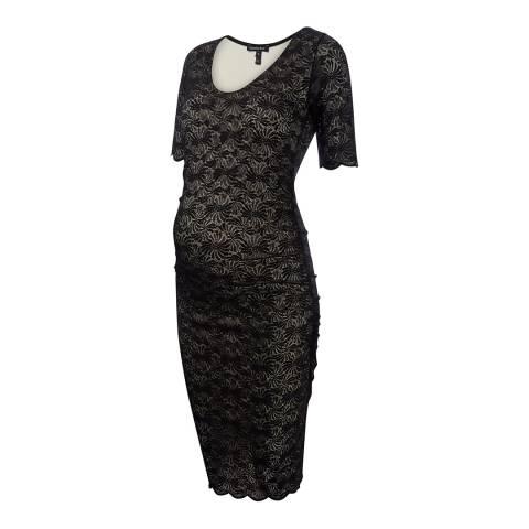 Isabella Oliver Black Hesham Maternity Dress
