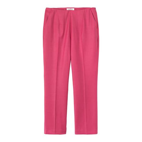 Toast Bright Rose Wool Blend Slim Trousers