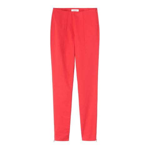Toast Red Ryoko Cotton Blend Slim Trousers