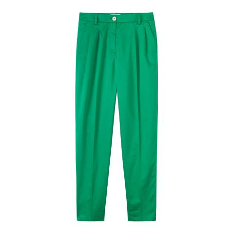 Toast Bright Green George Pleat Trousers