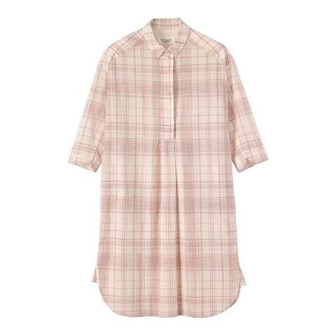 Toast Off White/Red Moe Check Tunic