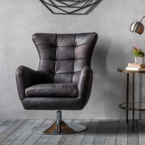 Gallery Black Bristol Swivel Chair, Antique