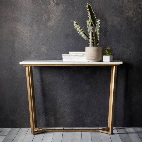 Gallery Cleo Marble Console Table