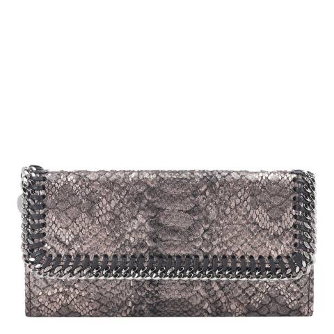 Stella McCartney Bronze Metallic Faux Python Falabella Flap Wallet