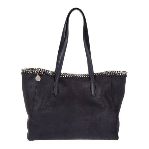 Stella McCartney Navy Shaggy Deer Falabella Tote Bag