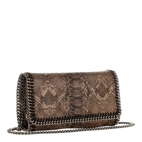 Stella McCartney  Metallic Python Falabella Crossbody Bag