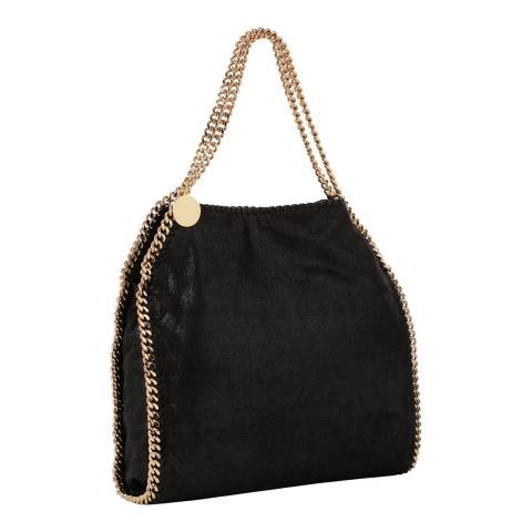 Stella McCartney Black Shaggy Deer Falabella Gold Small Tote