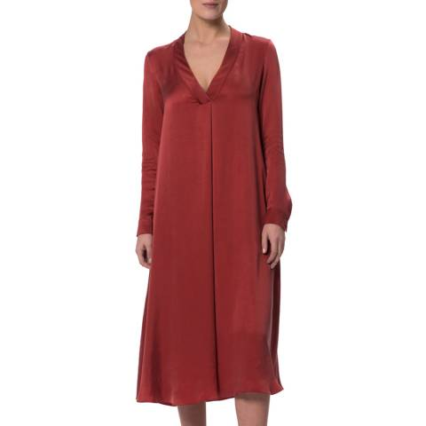 WTR London Burgundy Mayfair Flare Dress