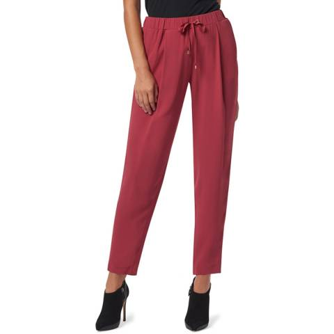 WTR London Burgundy Chelsea Tapered Luxe Trousers