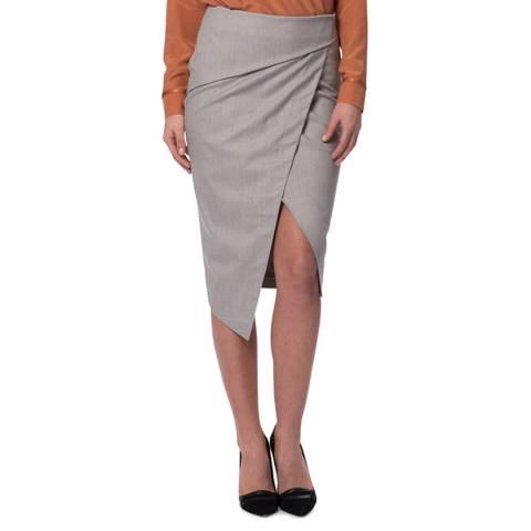 WTR London Grey Marylebone Wrap Skirt