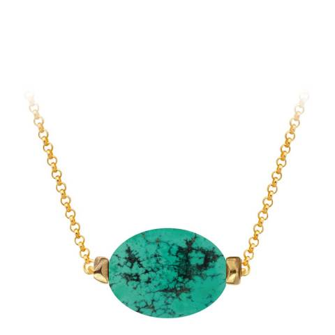Liv Oliver Gold Turquoise Necklace