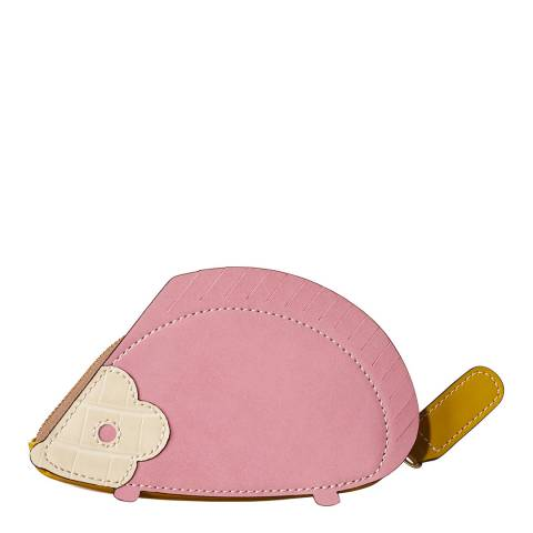 Orla Kiely Pink/Dark Mustard Yellow Hedgehog Coin Purse