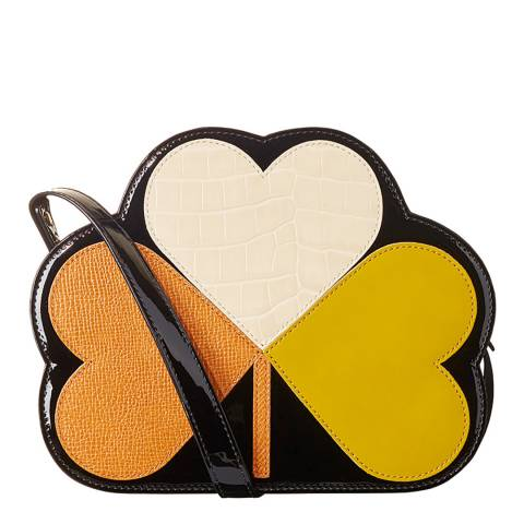 Orla Kiely Multi Love Heart Small Clover Applique  Sling Bag