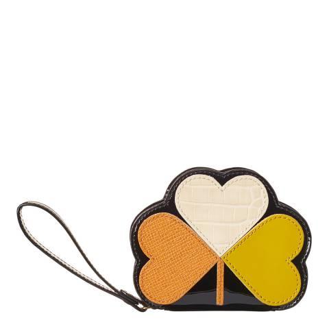 Orla Kiely Love Heart Clover Applique Coin Purse