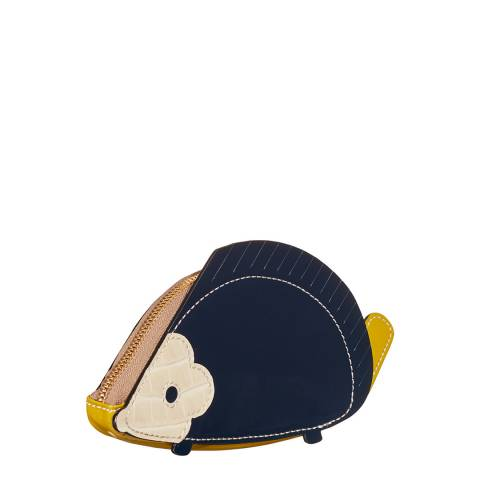 Orla Kiely Navy/Dark Mustard Hedgehog Coin Purse