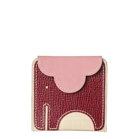 Orla Kiely Plum Elephant Pleated Purse