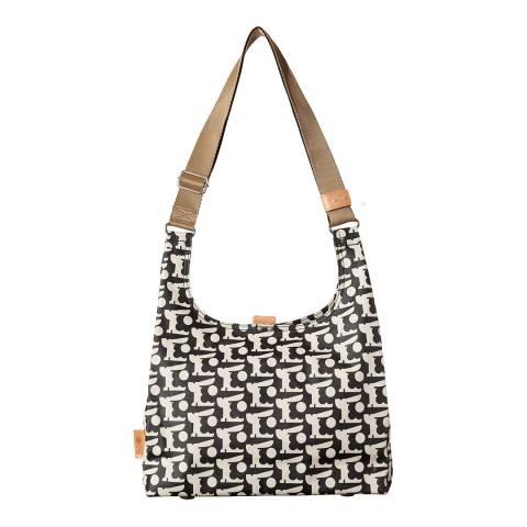 Orla Kiely Black Baby Bunny Print Midi Sling Bag