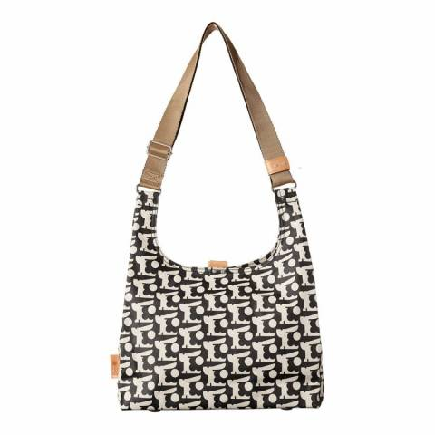 Orla Kiely Black Rabbit Midi Sling Bag
