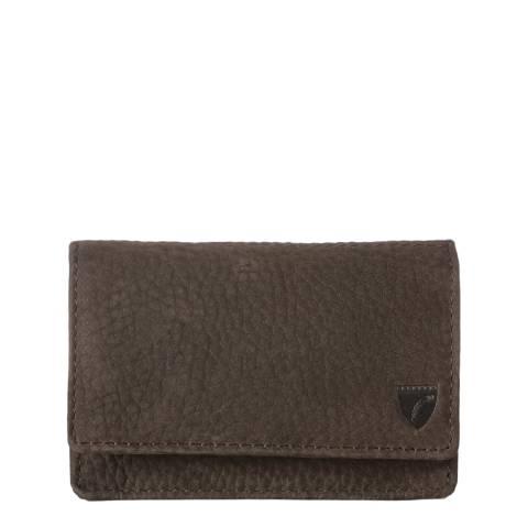 Aspinal of London Dark Brown Business & Credit Card Case Slip Pocket