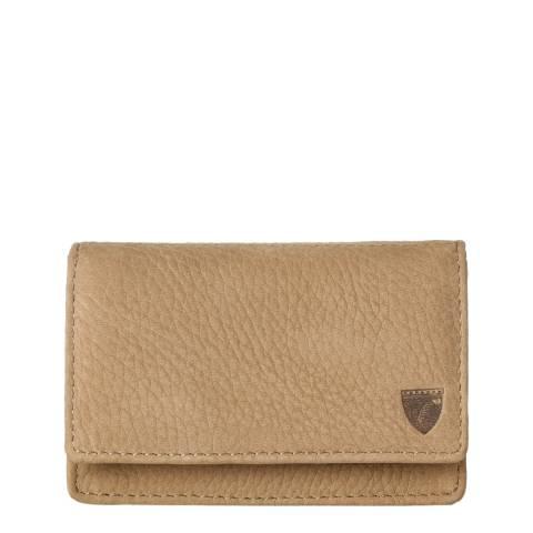 Aspinal of London Beige Business & Credit Card Case Slip Pocket