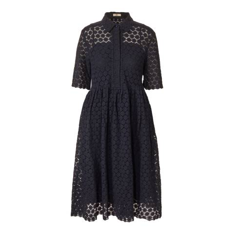 Orla Kiely Navy Lace Shirt Dress
