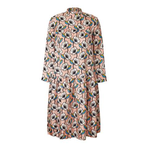 Orla Kiely Rose Silk Twill Gathered Dress