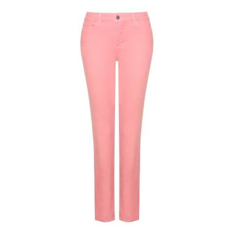 NYDJ Mid Pink Clarissa Ankle Cotton Stretch Jeans