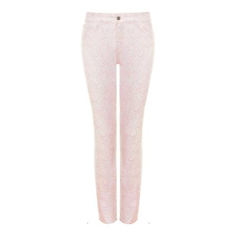 NYDJ Peach Clarissa Ankle Grazer Cotton Stretch Jeans