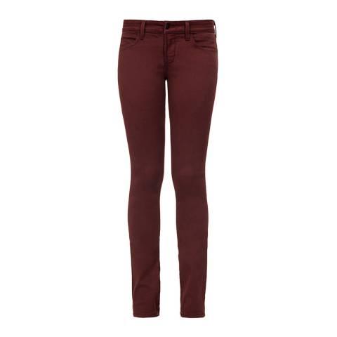 NYDJ Oxblood Cotton Blend Alina Stretch Leggings