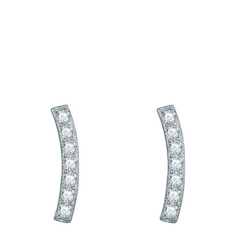 Carat 1934 Silver Curved Earrings