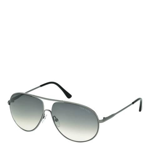 Tom Ford Men's Cliff Matte Gunmetal/Graduated Smoke Sunglasses 61mm