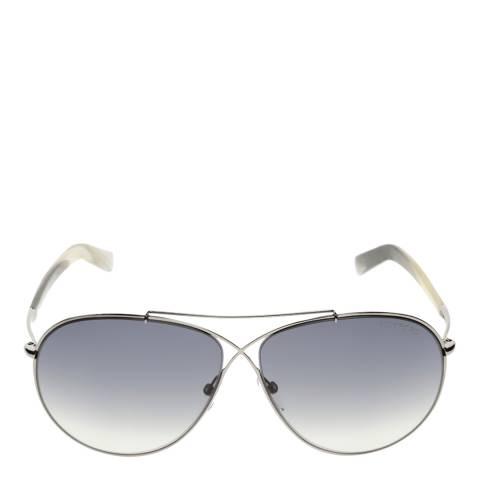 Tom Ford Women's Eva Matte Silver/Graduated Smoke Sunglasses 61mm