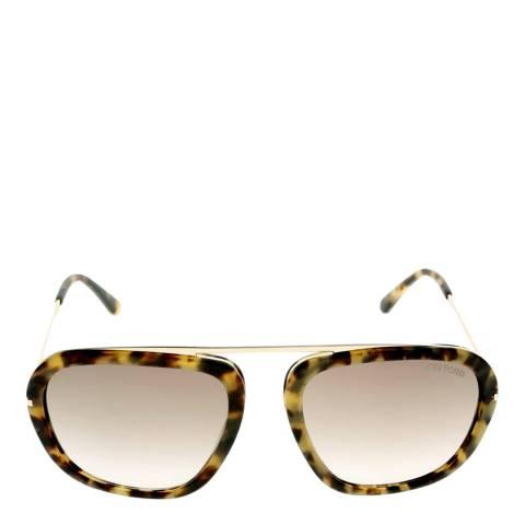 Tom Ford Women's Johnson Blonde Brown Sunglasses 57mm